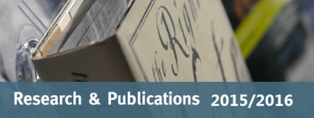 Research Publications 2015/2016